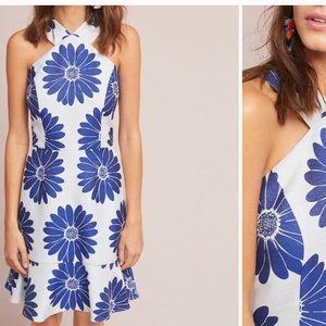 ANTHROPOLOGIE: hutch, dress, blue/white, size 6